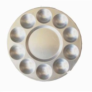 totenart-Paleta redonda de metal, 17 cm.