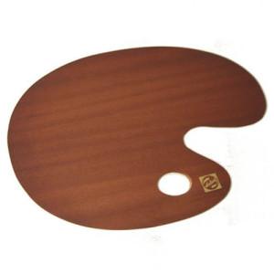 totenart-Paleta ovalada de madera barnizada Talens, 30x40 cm.