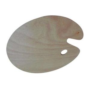 totenart-Paleta ovalada de madera, 25x30 cm.