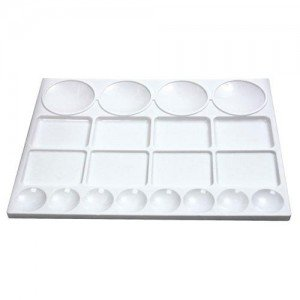 Totenart-Paleta rectangular de plástico (25x33 cm)
