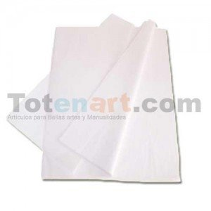 totenart-Papel Seda Blanco 52x75 cm., mano 20 uds