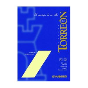 totenart-Papel Torreon ahuesado verjurado, 90 gr., 21x30 cm., A4