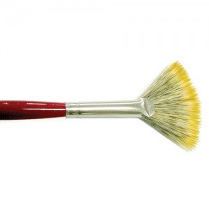 Pincel Art de pelo sintético abanico de mango largo (nº 04)