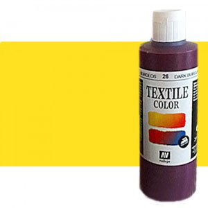 totenart-Pintura Textil Vallejo Amarillo, 200 ml.