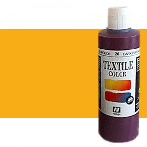 totenart-Pintura Textil Vallejo Amarillo Dorado, 200 ml.