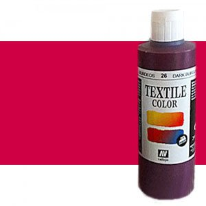 totenart-Pintura Textil Vallejo Cereza, 200 ml.