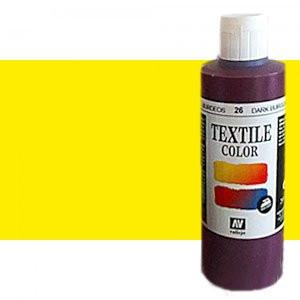 totenart-Pintura Textil Vallejo Amarillo Fluo, 200 ml.