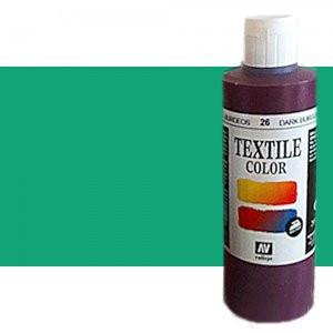 totenart-Pintura Textil Vallejo Verde Fluo, 200 ml.