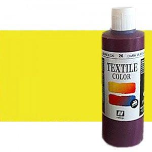 totenart-Pintura Textil Vallejo Amarillo Metal, 200 ml.