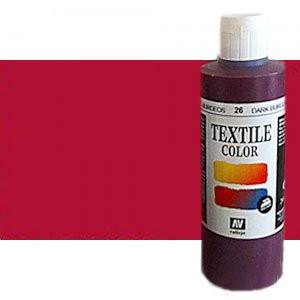 totenart-Pintura Textil Vallejo Rojo Metal, 200 ml.