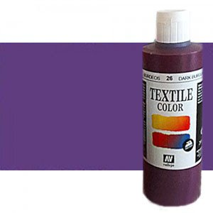 totenart-Pintura Textil Vallejo Violeta Metal, 200 ml.