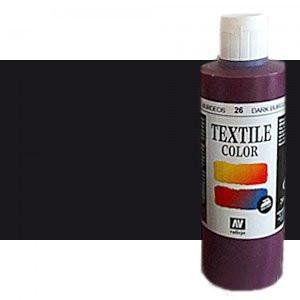 totenart-Pintura Textil Vallejo Negro, 200 ml.