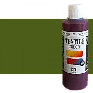 totenart-Pintura Textil Vallejo Verde Musgo, 60 ml.