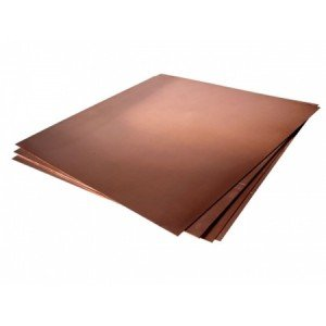 Plancha de Cobre c/ proteccion, 50x50 (1,0)