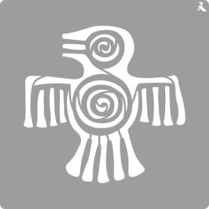 totenart-Stencil plantilla 02 Maya 20x20cm. La Pajarita