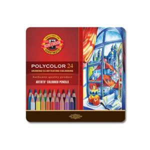 totenart-Estuche de 24 lápices de color Polycolor Koh-i-Noor