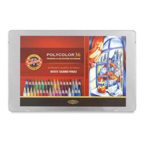 totenart-Estuche de 36 lápices de color Polycolor Koh-i-Noor
