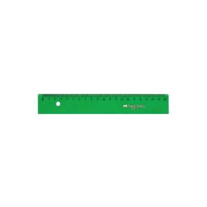 Regla graduada ESCOLAR - 220 - canto biselado 20 cm. verde Faber Castell