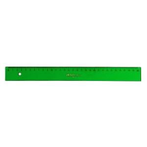Regla graduada ESCOLAR - 230 - canto biselado 30 cm. verde Faber Castell