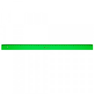 Regla graduada ESCOLAR - 250 - canto biselado 50 cm. verde Faber Castell