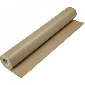 Rollo Kraft Verjurado Marron, 1x25 mts.