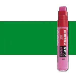 Totenart. Rotulador acrilico Amsterdam color Verde Permanente Claro 618 (15mm.)