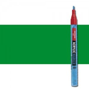 totenart-Rotulador acrilico Amsterdam color Verde Permanente Claro 618 (2 mm.)