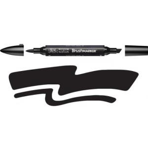 Rotulador Brushmarker Black (XB) Winsor & Newton Totenart
