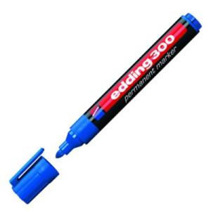 totenart-Rotulador Permanente Edding 300 Azul 03, punta 1.5-3 mm.