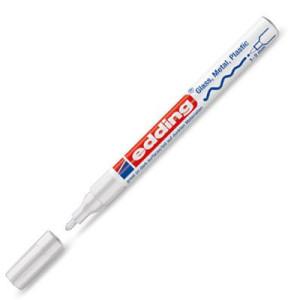 Totenart-Rotulador Tinta Opaca Edding 751 Blanco 49, punta redonda 1-3 mm.
