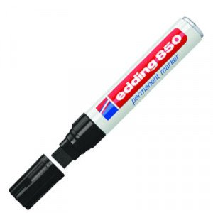 Totenart-Rotulador Permanente Edding 850 Negro 01, punta biselada 5-15 mm.
