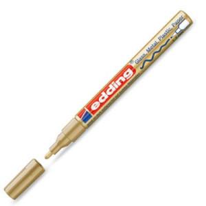 Totenart-Rotulador Tinta Opaca Edding 751 Oro 53, punta redonda 1-3 mm.