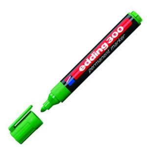 totenart-Rotulador Permanente Edding 300 Verde 04, punta 1.5-3 mm.