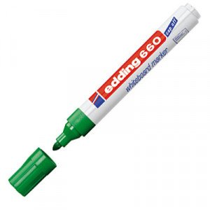 Totenart-Rotulador para Pizarra Blanca Edding 660 Verde 04, punta redonda 1.5-3 mm.