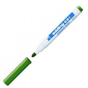 Totenart-Rotulador para Pizarra Blanca Edding 661 Verde 04, punta redonda 1-2 mm.