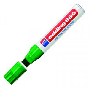 Totenart-Rotulador Permanente Edding 850 Verde 04, punta biselada 5-15 mm.
