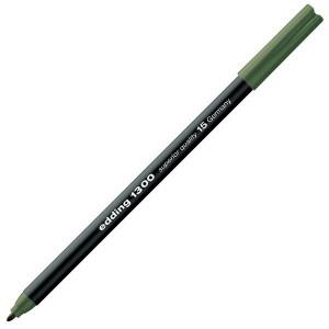 Totenart-Rotulador Edding 1300 Verde Oliva 15, punta fina 2 mm.