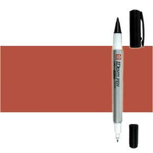 Totenart. Rotulador IDenti pen Sakura Marron 2 puntas