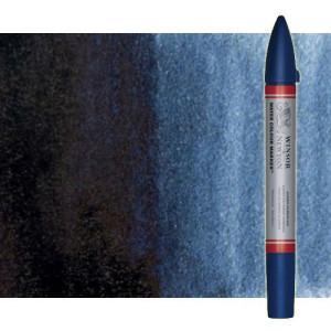 Totenart-Rotulador de acuarela indigo Winsor & Newton doble punta pincel