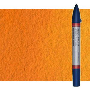 Totenart-Rotulador de acuarela naranja de cadmio tono Winsor & Newton doble punta pincel