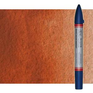 Totenart-Rotulador de acuarela rojo tostado Winsor & Newton doble punta pincel