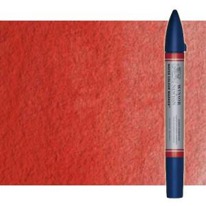 Totenart-Rotulador de acuarela rojo de cadmio oscuro tono Winsor & Newton doble punta pincel