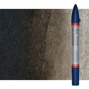 Totenart-Rotulador de acuarela sepia Winsor & Newton doble punta pincel