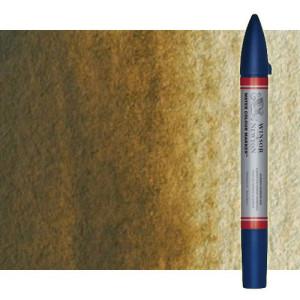 Totenart-Rotulador de acuarela Tierra de sombra natural Winsor & Newton doble punta pincel