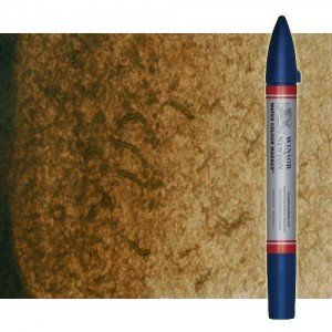 Totenart-Rotulador de acuarela Tierra de sombra tostada Winsor & Newton doble punta pincel