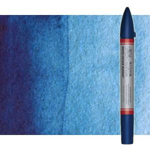 Totenart-Rotulador de acuarela turquesa Winsor & Newton doble punta pincel