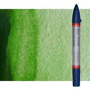 Totenart-Rotulador de acuarela Verde vejiga Winsor & Newton doble punta pincel