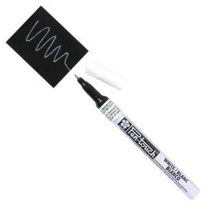 Totenart. Rotulador Blanco Pen-touch extrafino Sakura