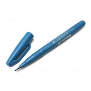 Rotulador Pincel Pentel Touch, Azul Cielo