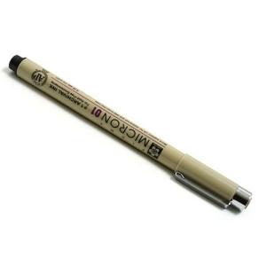 Totenart. Rotulador negro Pigma Micron Sakura 01, 0.25 mm.